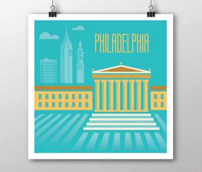 Philadelphia Illustrated Poster