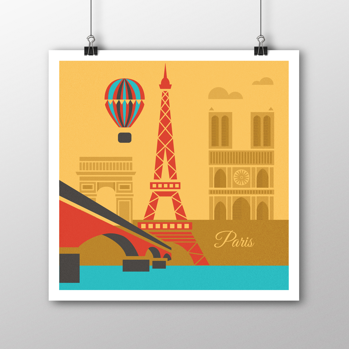 Paris illustrated poster