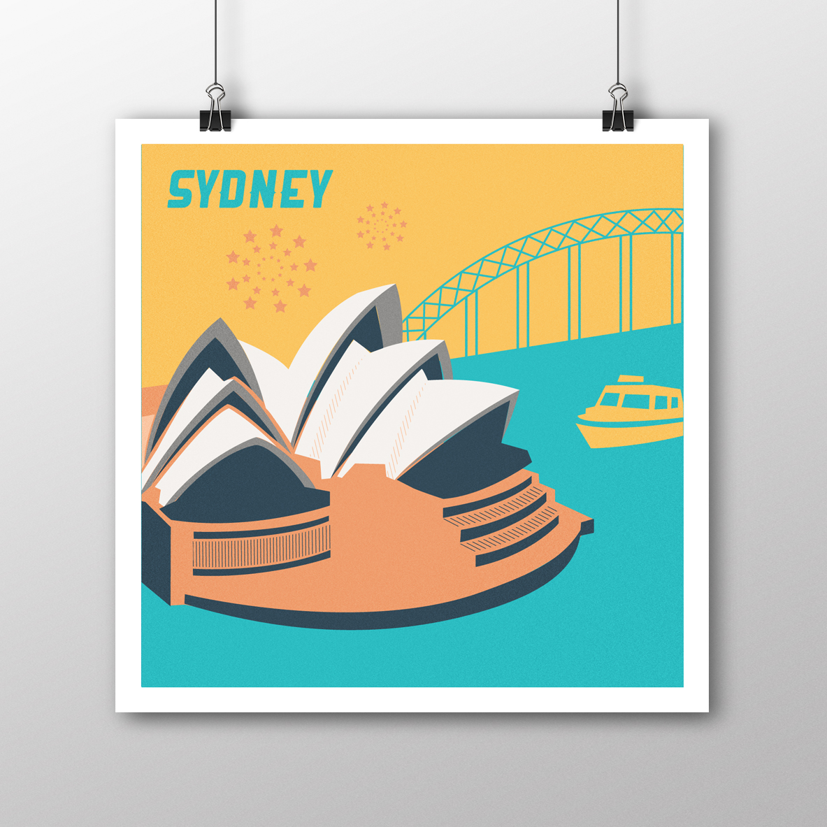 Sydney Illustrated Poster