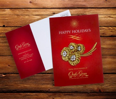 Jewelry Store Postcard for the Holidays