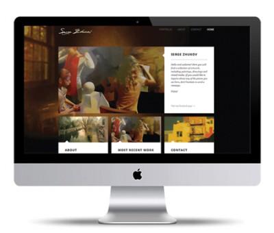 Personal Portfolio of Serge Zhukov Website Design