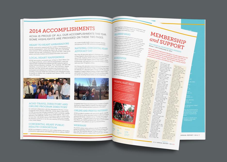 Inside spread of a nonprofit annual report