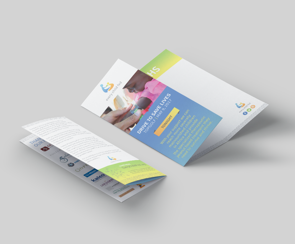 trifold 3-panel information brochure