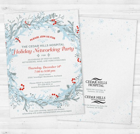 Cedar Hills Hospital Holiday Invitation