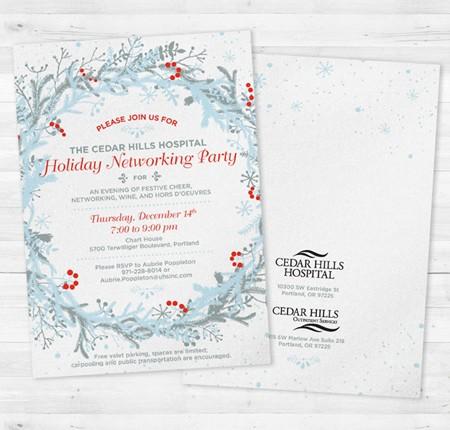 Cedar Hills Hospital Holiday Invitation